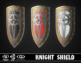 3D model game-ready Knight Shield 06