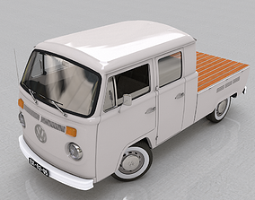 VOLKSWAGEN T2 PICKUP DOUBLE CAB 1974 3D model