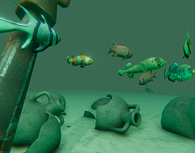 3D asset AI Fishes - ready solutions for your project for
