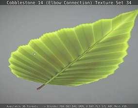 3D model Hornbeam Leaf Low-Poly Version