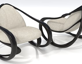 3D Rocking armchair Move-Dw-LFab