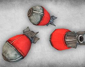 3D asset Cartoon Bomb 01
