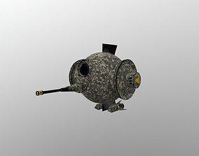 BattleBot Military 3D model realtime