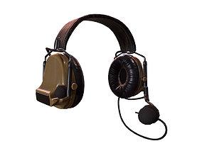 3D asset Military Headphone