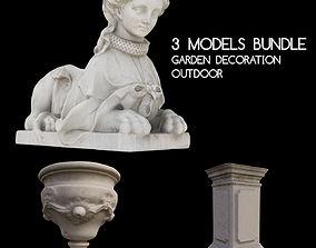 3D model Garden Decorative Statues - Bundle