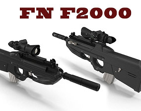 3D model assault FN F2000
