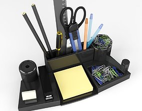 Stationery set on the Desk 3D model