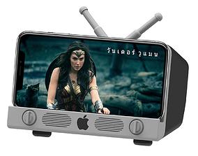 3D printable model iPhone X Cell phone holder Apple Logo