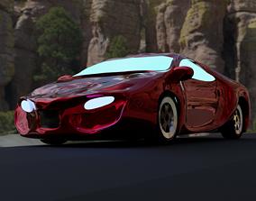 Sci-Fi Gaming Car 3D asset