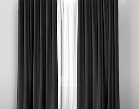 3D IKEA ANNACAISE gray thick curtains made of polyester