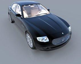 3D Maserati Quattroporte headlight