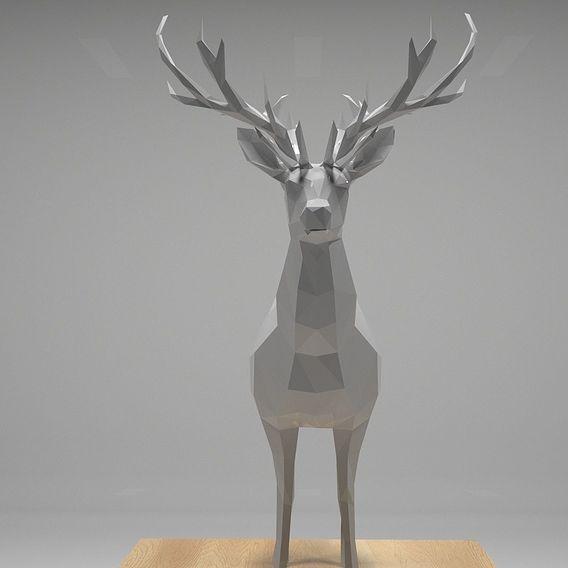 Low Polygon Deer