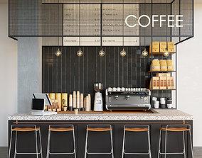 3D model Cafe Coffeeshop Dark
