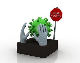 3D model Coronavirus awareness and protection