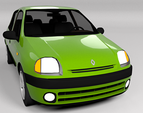 3D asset VR / AR ready RENAULT CLIO 1999 LOWPOLY