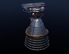 3D F-1 rocket engine