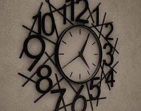 3D Messy Wall Clock 14
