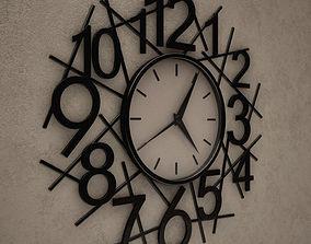3D Messy Wall Clock 14