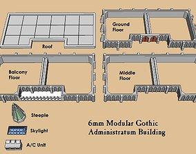 6mm or 8mm Modular Gothic Administratum 3D print model