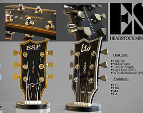 3D ESP Guitar Headstock Miniatures