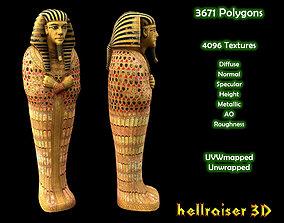 3D model Egyptian Sarcophagus - PBR - Textured