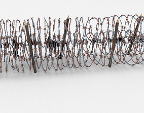wire Low Poly Barb Wire Obstacle 3D model low-poly