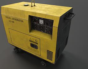 3D model realtime Diesel generator