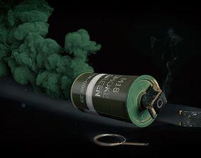 M18 Smoke Grenade game ready 3D asset low-poly