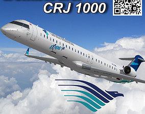Bombardier CRJ 1000 Garuda Indonesia 3D asset
