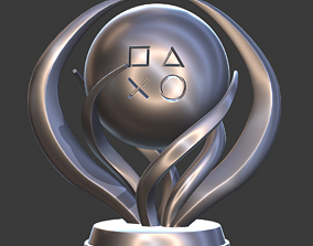 PlayStation Platinum Trophy 3D print model