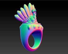 3D printable model Thanksgiving Turkey Ring