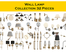 3D model Wall Lamp Collection 32 Pieces