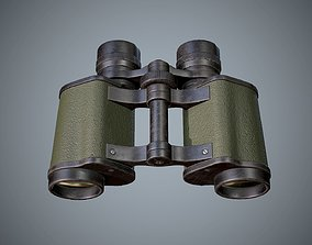 Binoculars 3D model game-ready