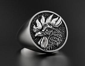 3D print model Rooster Ring blackening
