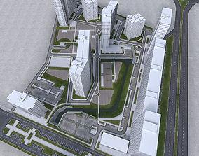 3D asset Urban Area 03