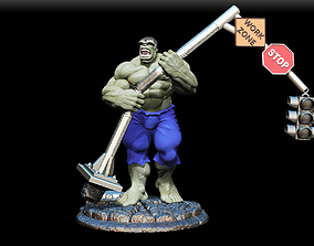 ironman hulk Gray 3D print model