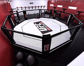 3D rigged UFC Hall