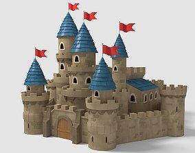 flag Castle Cartoon 3D model