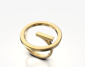 Circle Ring platinum 3D print model