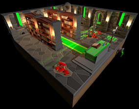 Low Poly Dungeon - Green Version 3D asset