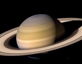 3D model Photorealistic Accurate Saturn System
