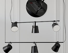 ZERO GINZA HORIZONTAL LED Aluminium Pendant Lamp 3D