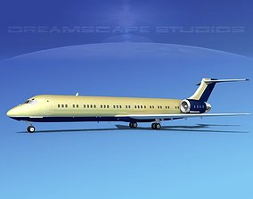 McDonnell Douglas MD-87 Corporate 4 3D model