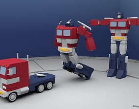 3D model Optimus Prime Transforming Rig