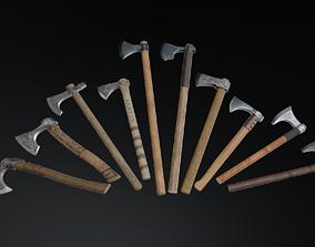 3D asset Medieval Ax Set 01
