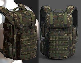 Backpack military combat soldier bag baggage 3D model