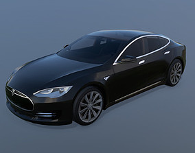 Tesla Model S 2013 Low-Poly Model 3D asset game-ready