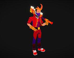 3D asset Cyber-Punk-Kid