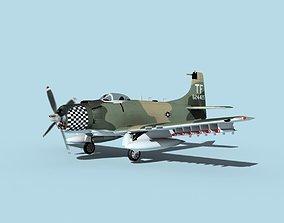 Douglas A-1H Skyraider V15 USAF 3D model