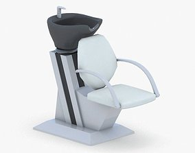 3D model 0898 - Hairdresser Chair
